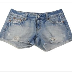 American Eagle Distressed Cut Off Jean Shorts